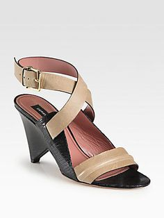 Derek Lam Pace Leather Ankle Strap Sandals $498.00