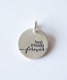 Sterling Silver 'Best Friends Forever' Charm