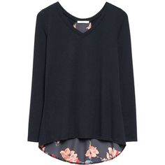 Stitch Fix mixed material top (name unknown) - pretty