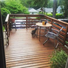 Freshly stained deck:) I used Behr transparent waterproofing wood finish in cedar naturaltone. #wood #woodworking #building #build #stain #deckstain #behr #cedar #deck #spring #nice #welldone #diy #pretty #outdoors | Shared from www.behr.com