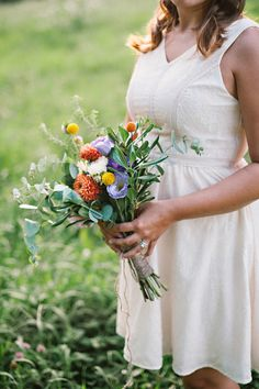 Picnic Wedding Inspiration from Blissful Whimsy Events and Mark Potter Photography #bouquet