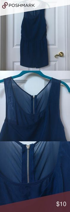 Navy blue romper from Urban Outfitters size 6. This is a well loved navy blue romper from Urban Outfitters. It has some signs of wear which is pictured above. It's noted as a size 6 but it fits like a small. Let me know if you want more details! silence + noise Other