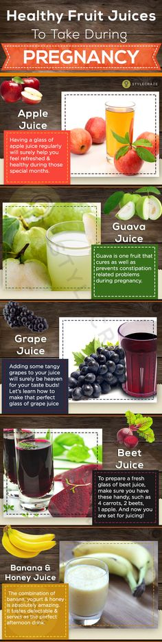 5 Healthy Fruit Juices To Take During Pregnancy #pregnancy