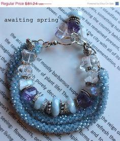SALE chunky charm bracelet multi strand bracelet by soulfuledges, $64.99