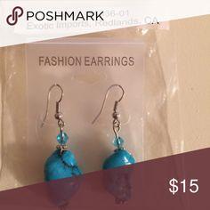 Home made Turquoise Earrings Home made Turquoise Earrings made in California Jewelry Earrings