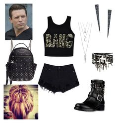 """The Miz: you wear booty shorts and a crop top"" by dpclma ❤ liked on Polyvore featuring Ally Fashion, Valentino, ASOS, Lana, BERRICLE, WWE and Alexander McQueen"