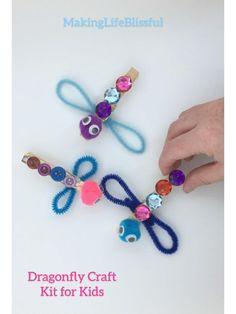 Dragonfly Craft Kit for Kids, Dragonfly Craft makes 2 per kit | Etsy