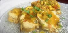 Pepper Stuffed Chicken with Spicy Orange Sauce – Eat or Die