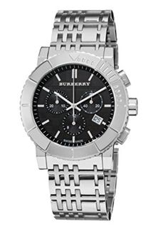 Swiss Made Burber..., at www.WristTakerWatches.com  http://wristtakerwatches.com/products/swiss-made-burberry-trench-chronograph-black-dial-stainless-steel-mens-watch-bu2304?utm_campaign=social_autopilot&utm_source=pin&utm_medium=pin