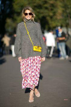 Pin for Later: Le Meilleur du Street Style Vu à la Fashion Week de Paris Paris Fashion Week, Jour 1 Helena Bordon.