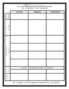 Awesome Lesson Plan Template That Can Be Used For Any Grade Level