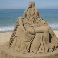 Sand art in the Malacon. Puerto Vallarta.