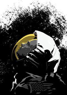 Portrait of Neil Armstrong - Matt Taylor Illustration