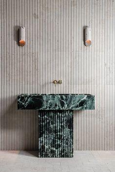 Baths Interior, Bathroom Interior Design, Bathroom Inspiration, Home Decor Inspiration, Interior Styling, Interior Decorating, Duplex Design, Art Deco Bathroom, Stylish Beds