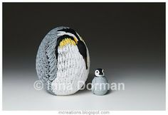 Inna's Creations: Penguin Easter Egg - Quilling