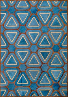 Patterns blue triangles