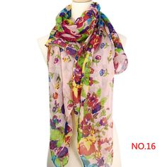 Mix Beauty Color Style Girls Women's Ladies Large Long Soft Neck Scarf Warm Wrap Scarves Shawl