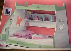 Children's Triple Sleeper Bed Bunk Bed 1 Single And 1 Double Bed