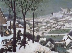 Hunters in the Snow by Pieter Brügel