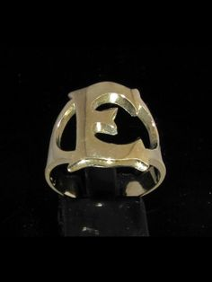 Bronze Ring Initial Ring One  Capital Block Letter G  Initial