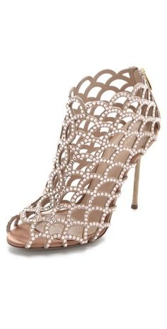 Oh, Shiny Sparky Love! Sergio Rossi + Swarovski Mermaid Booties #fashion #booties #sergio-rossi