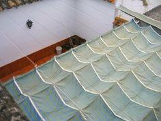New garden shade cloth roman blinds Ideas Pergola Canopy, Pergola Swing, Pergola Shade, Pergola Plans, Diy Pergola, Pergola Kits, Pergola Ideas, Outdoor Shade, Backyard Ideas