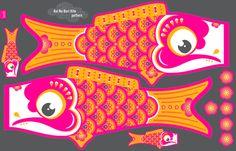Koi No Bori Kite Pattern fabric by zesti on Spoonflower - custom fabric