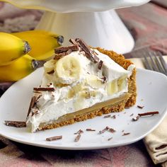"Banoffee Pie. I saw Paula Deen's version, but this looks much easier! And I suppose you can swap out the ""digestive biscuits"" for graham crackers to make the crust.  Can't wait to make it!"