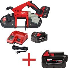 milwaukee m18 18volt lithiumion cordless band saw with free m18 40ah