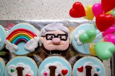 "Cute! Cupcakes for the movie, ""Up,"" one of my kid's all time favorites :)"