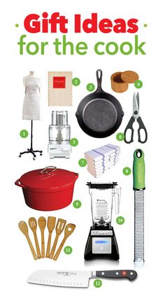 Gift Ideas for the Cook | http://shewearsmanyhats.com/gift-ideas-cook/