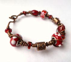 Wire wrapped bracelet / Wire Wrapped jewelry by PillarOfSaltStudio