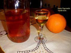 Tante Kiki: Λικέρ πορτοκάλι με κρόκο Κοζάνης, αγαπημένο και δι... Oranges And Lemons, Marmalade, Greek Recipes, Alcoholic Drinks, Homemade, Liqueurs, Glass, Food, Desserts