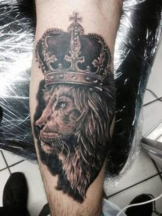 My new tattoo, The Lion of Judah... The king of kings!