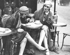 1922-Maurice-Brange,-Au-Café--Solita-Solano-and-Djuna-Barnes-in-Paris