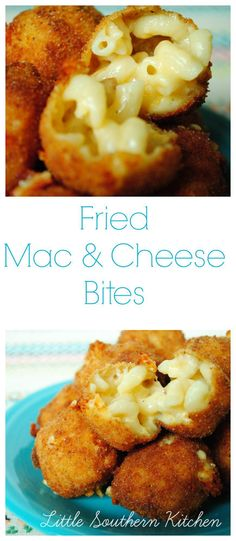Fried Mac and Cheese Bites - Great with sweet chilli sauce!