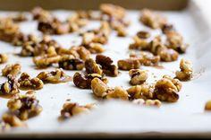 Cinnamon Roasted Walnuts - with Greek yogurt an pumpkin pie spice