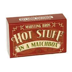 World's Hottest Chilli Powders In A Matchbox by Marvling Bros Ltd., the perfect gift for Explore more unique gifts in our curated marketplace. Worlds Hottest Chilli, Stocking Fillers For Him, Bhut Jolokia, Matchbox Art, Collector Cards, Wedding Favours, Secret Santa, Little Gifts, Glass Bottles