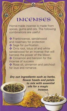 Incenses - This is only a fraction of the incense combinations that can be made... know your goal/desire and compound the appropriate herbs and resins... the energies released are amazing...