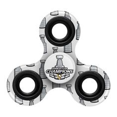 756299e56188 NHL Stanley CUP Champions Three Way Fidget Spinner Features:Helps Relieve  StressDecorated with Vibrant Team Colored GraphicsMetal handles for Easy  gripping ...
