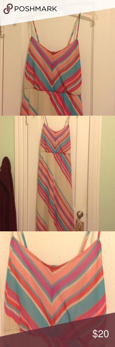 Maxi dress. Colorful maxi dress. From kohls.  Worn once.  Perfect condition. Can be dressed up or down. Dresses Maxi