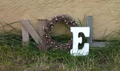 Sign/ mantle display  Noel & Joy by PeabodyAndSassafras on Etsy, $35.00