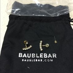 Bauble Bar Anchor Earrings Comes in the original bag. Bauble bar Jewelry Earrings
