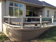 Curved Deck Stairs Back Yard Deck Stairs Deck Steps