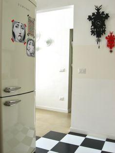 Bompani fridge and Diamantini & Domeniconi clocks - my kitchen - https://www.facebook.com/idiaridellappartamento www.idiaridellappartamento.it