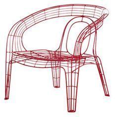 Pamela Wireframe Chair | Minimalist Seating | SofasAndSectionals Blog |