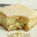 White Texas Sheetcake. Mmmm, my favorite! Recipe on { lilluna.com }