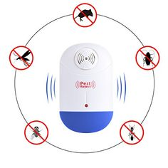 Fine Ultrasonic Pest Reject Repeller Control Electronic Pest Reject Repellent Mouse Rodent Cockroach Mosquito Gopher Insect Killer Refreshing And Beneficial To The Eyes Access Control