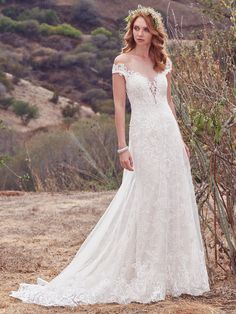 Astra Bridal Maggie Sottero Daisy   Off the shoulder lace dress     Maggie Sottero Gowns exclusive to Astra Bridal in New Zealand  