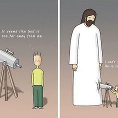 Strip laat zien dat Jezus altijd dichtbij is - BEAM